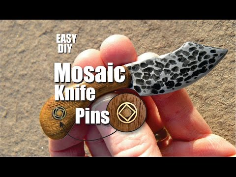 How to easily make Mosaic Knife Pins