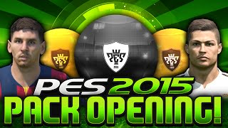 AMAZING BLACK BALL PACK OPENING!! PES 2015