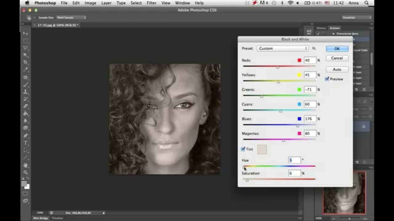 5 способов как сделать черно-белое фото в фотошопе. - YouTube