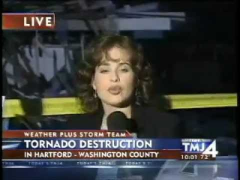 Tornado Hits Hartford, Wisconsin