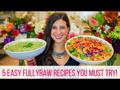 5 Easy FullyRaw Vegan Recipes | Beginner's Guide