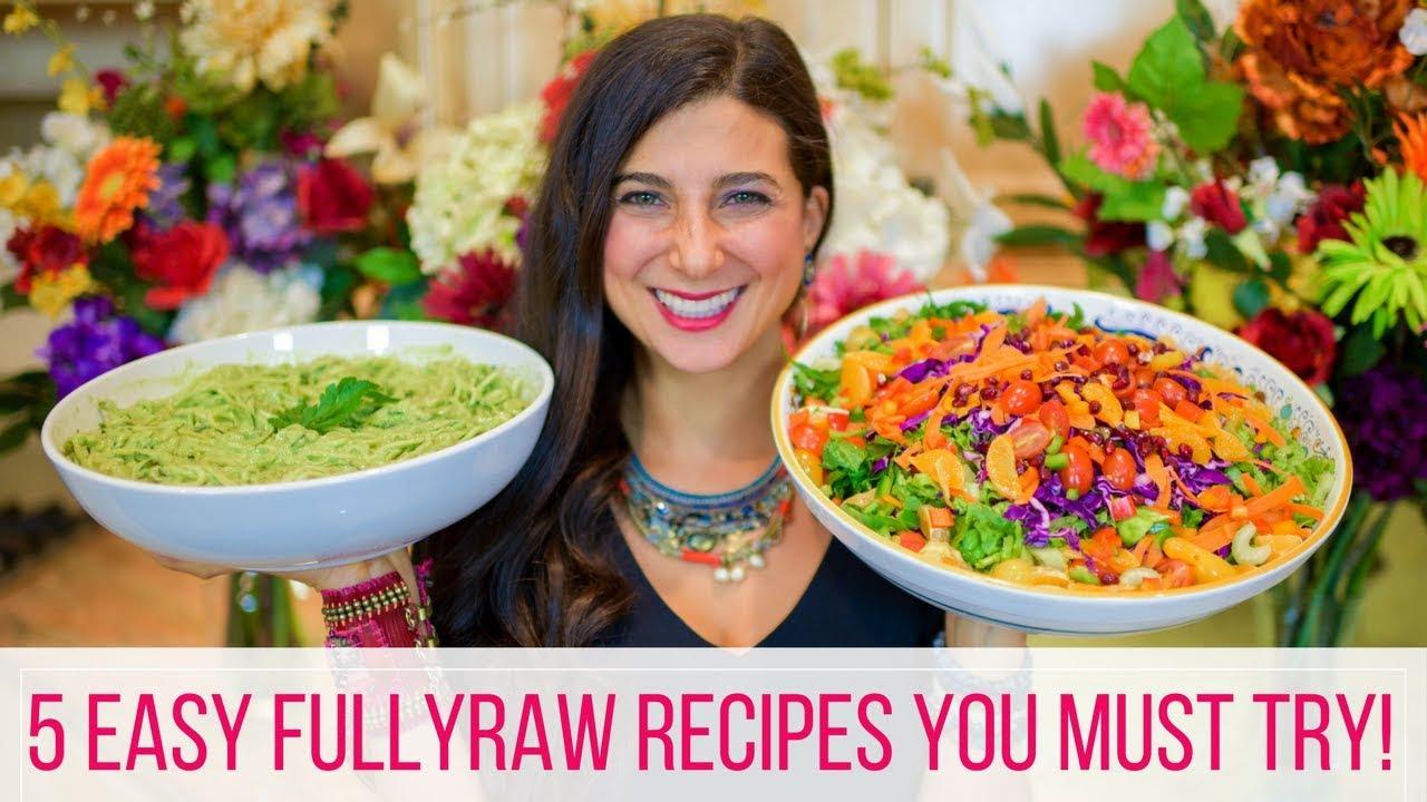 5 Easy FullyRaw Vegan Recipes