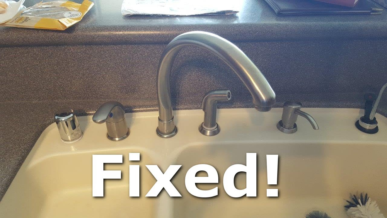 How To Fix A Leaky Kitchen Faucet Spout
