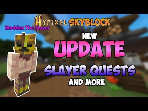 NEW UPDATE!! Slayer Quests, Bank Upgrade And More In Hypixel Skyblock