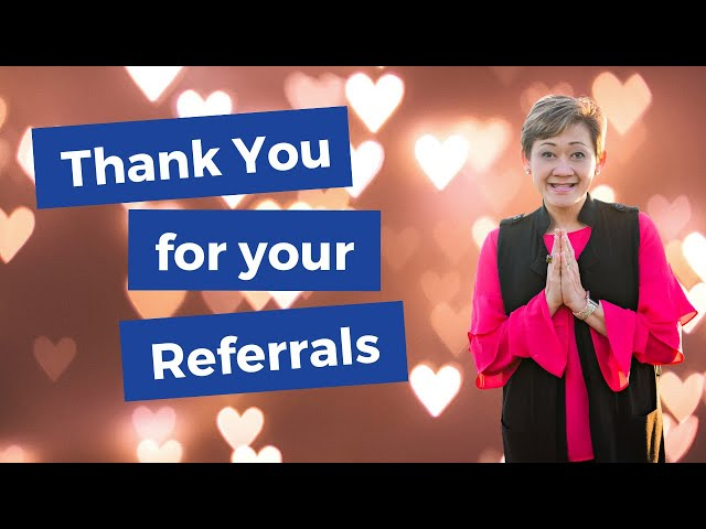 Thankful for referrals