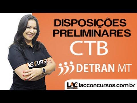 Disposições Preliminares - CTB - Aleciane Sanches