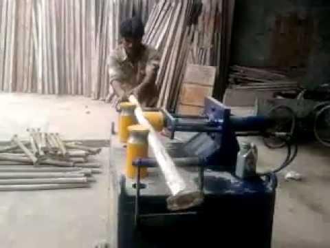 scaffolding pipe straightening machine youtube
