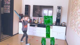 NERF Game NERF vs Minecraft in Real Life НЕРФ Игра  Майнкрафт в реальной жизни