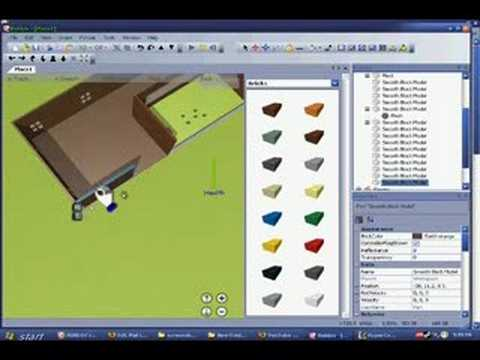 Roblox a free virtual world building game doovi for Free virtual builder