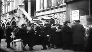 Jews In New York Busy In Shopping At Ghetto On Preparations For Festival Commemor...hd Stock Footage