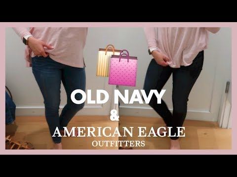 Shop With Me for Jeans! Old Navy + American Eagle   March 7, 2018