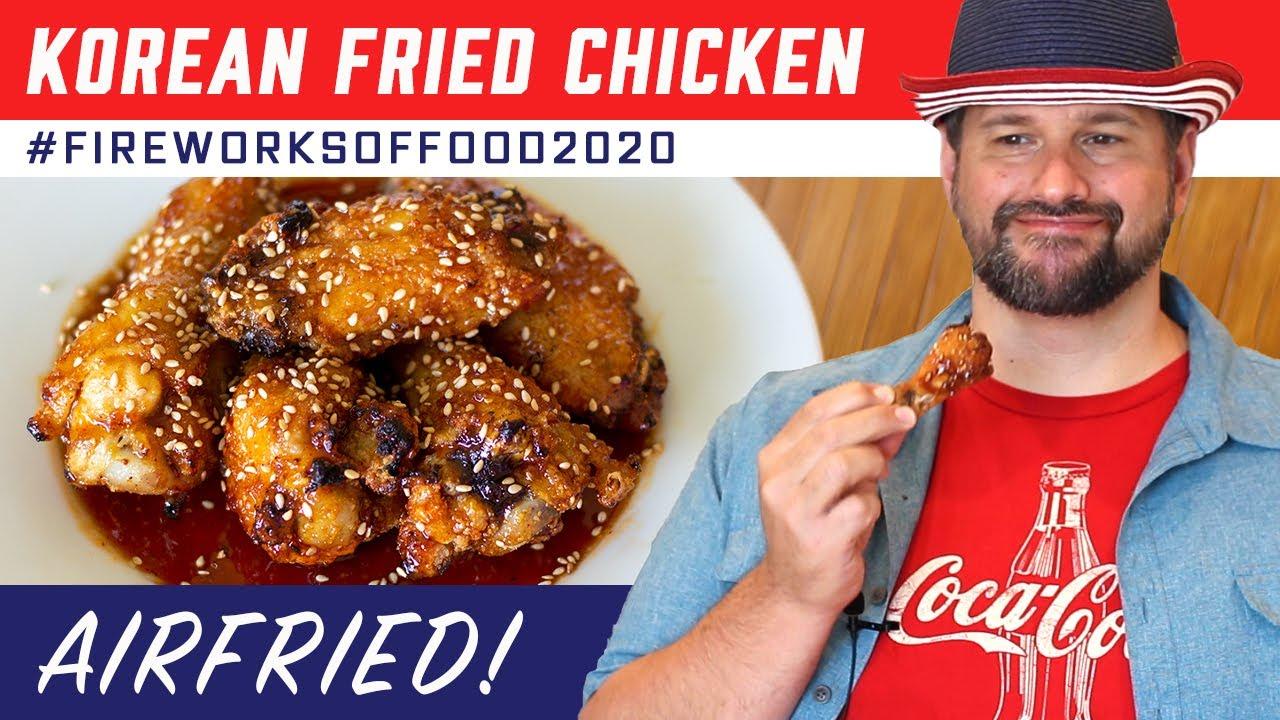 Air Fryer Korean Fried Chicken Recipe Fireworksoffood2020 Youtube