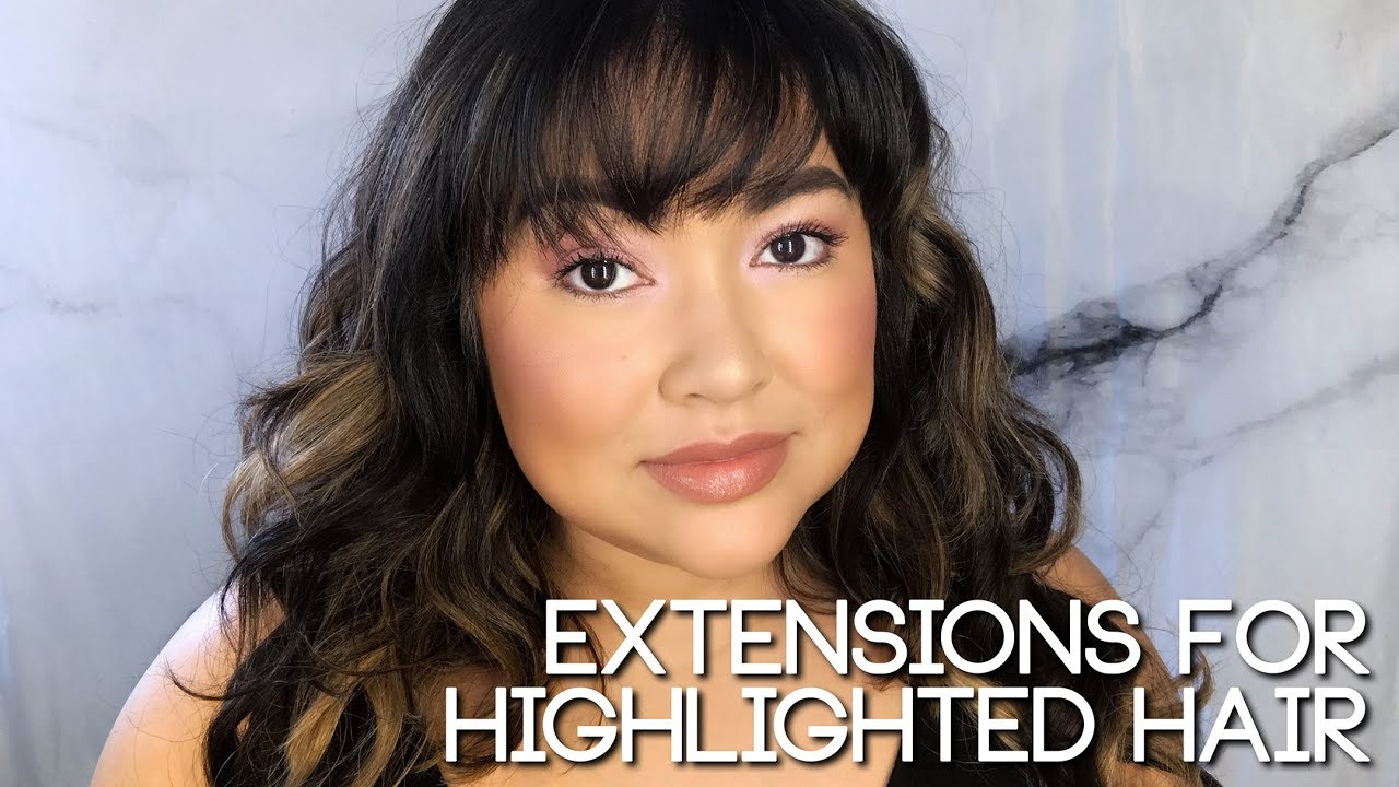 Extensions For Highlighted Hair The Savvy Beauty Youtube