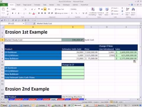 excel finance class 82 relevant costs for discounted cash flow analysis incremental cash flows youtube