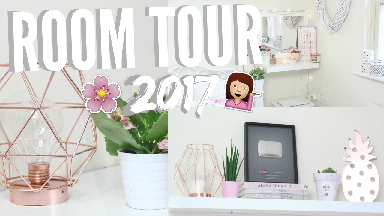 ROOM TOUR 2017! TUMBLR ROOM INSPIRATION! - YouTube