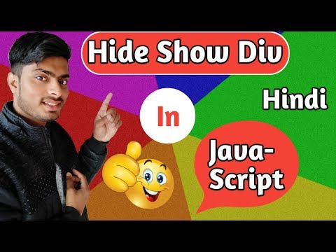 javascript hide show div on click in hindi | javascript tutorial for beginners 2019 in hindi thumbnail