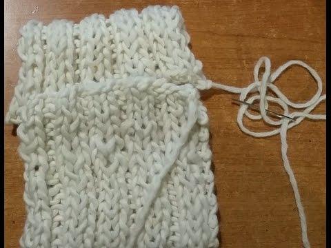 come cucire due bordi a maglia sovrapposti tutorial