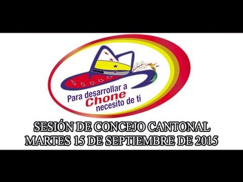 Sesión de Concejo - 15 SEP 2015