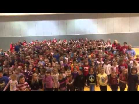 Jac Cen Del Elementary school song on one foot
