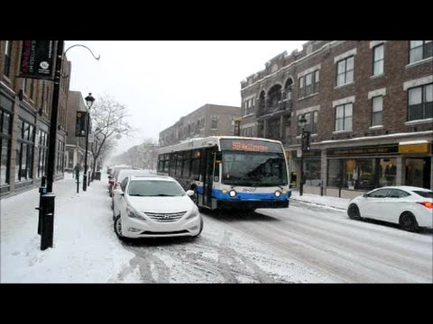 WALKING AROUND VERDUN DISTRICT OF MONTREAL IN THE SNOW 12-31-16