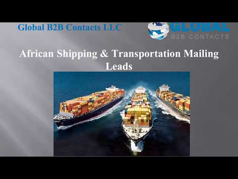 African Shipping Transportation Mailing Leads