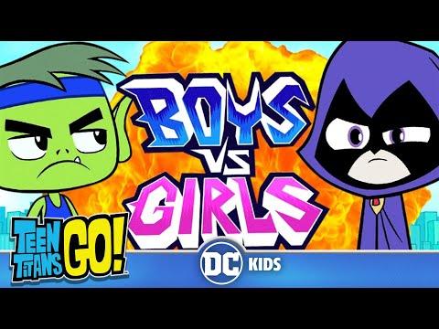 Teen Titans Go! | Мальчики против девочек | DC Kids