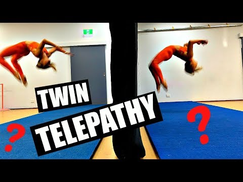 TWIN TELEPATHY TUMBLE CHALLENGE!