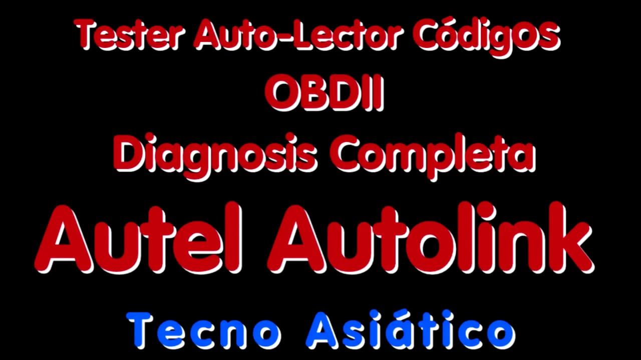 Tester-Lector de Códigos OBDII - Autel Autolink - YouTube