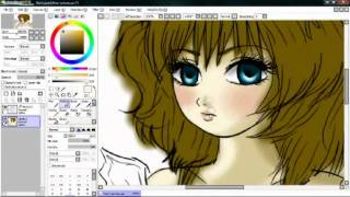 o0art0o♥♥♫♥♥drawing anime-girl-using-SAI