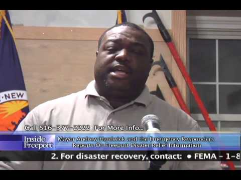 Mayor Andrew Hardwick & Emergency Responders - Report on Freeport Disaster Relief Information