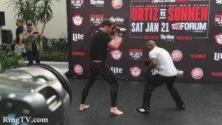 Bellator 170- Tito Ortiz vs. Chael Sonnen Media Workouts