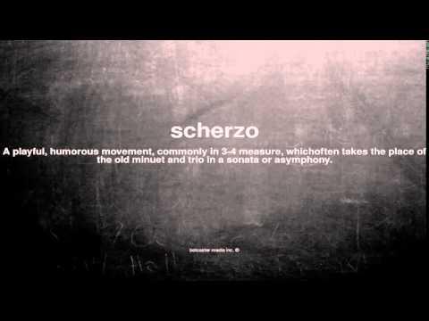 What does scherzo mean