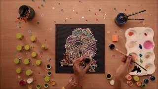 Ganesha Painting on Canvas Aboriginal Art by Hobby Ideas
