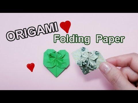 Okay! ll Origami ll DIY Paper Heart with money bill