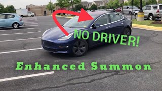Tesla Enhanced Summon | Multiple Tests in Parking Lot | Pick Up and Drop Off