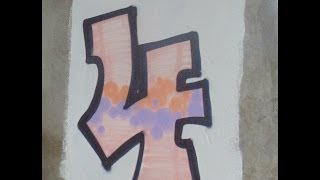 How to do graffiti number 4