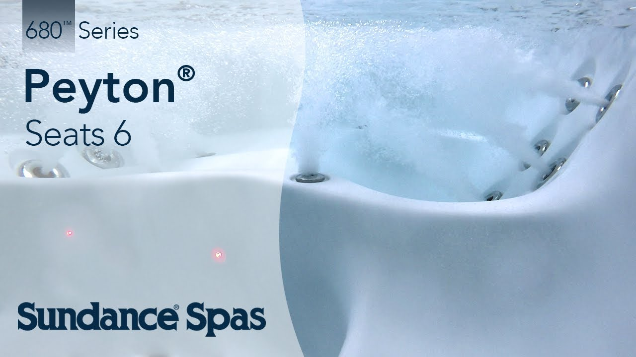 Peyton® Hot Tubs: 680™ Series Spa (seats up to 6) - YouTube