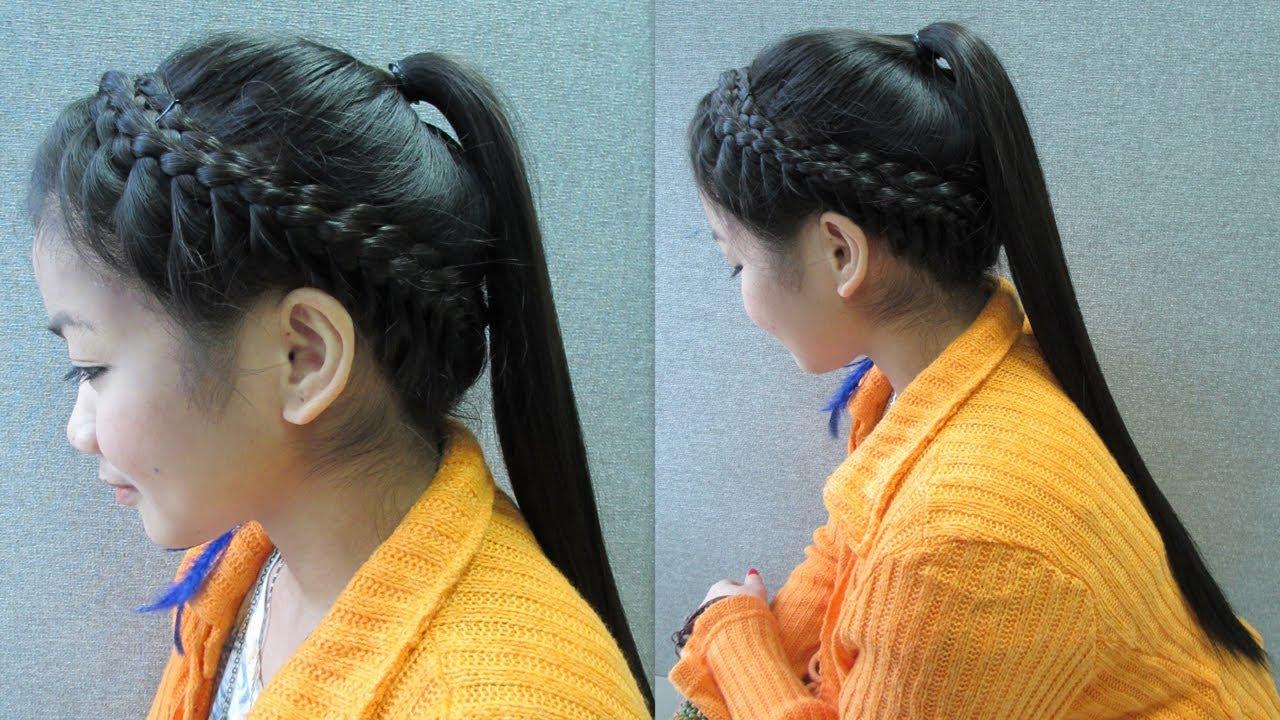 Asian pony tail
