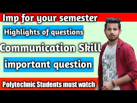 Communication Skills Important Questions For Current Semester
