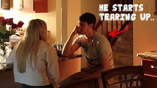 CHEATING PRANK BACKFIRES ON BOYFRIEND.. *HE CRIED*