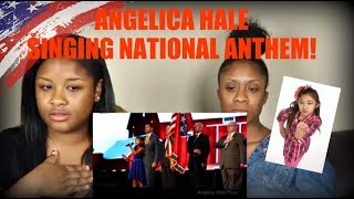 ANGELICA HALE SINGS NATIONAL ANTHEM (INCOMPLETE)