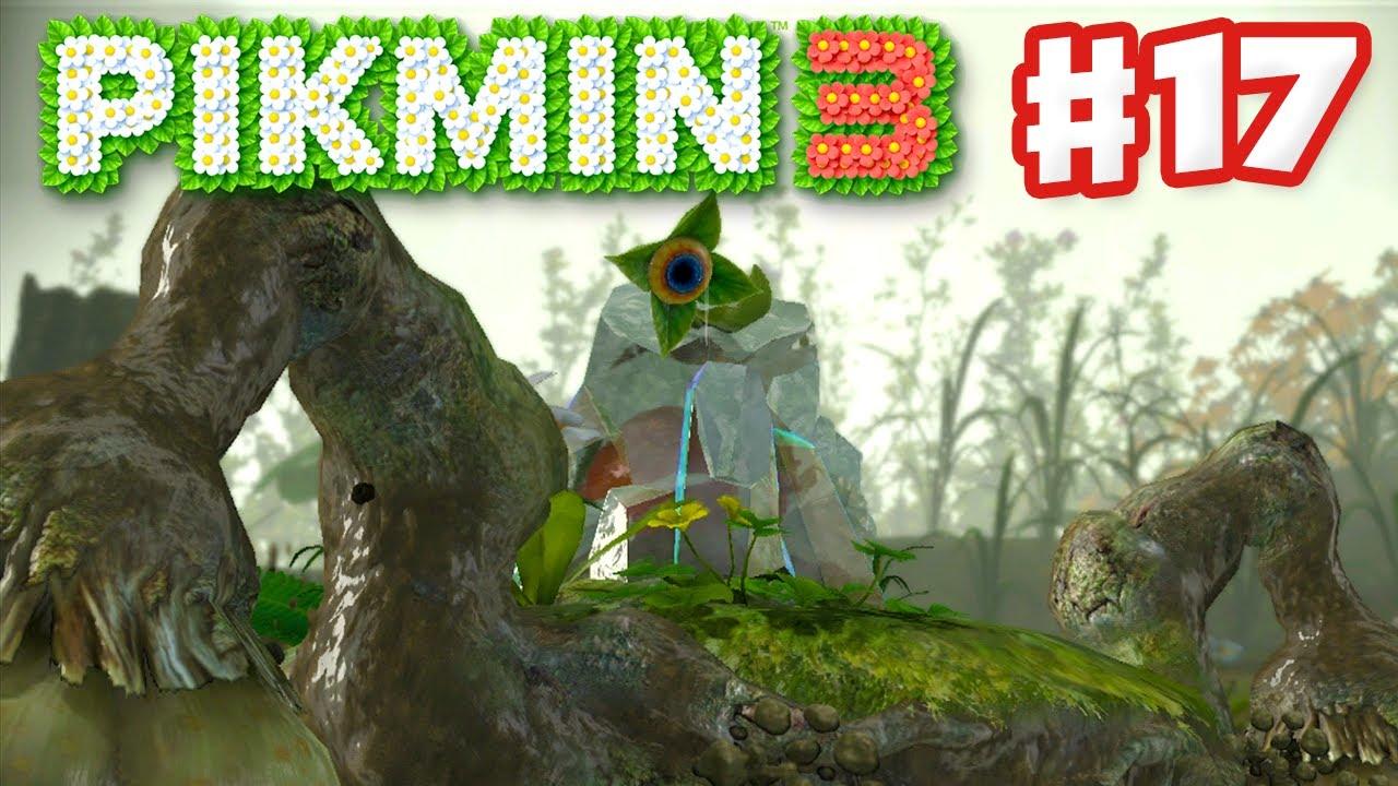 Pikmin 3 Day 17 Quaggled Mireclops Boss Fight Nintendo Wii U