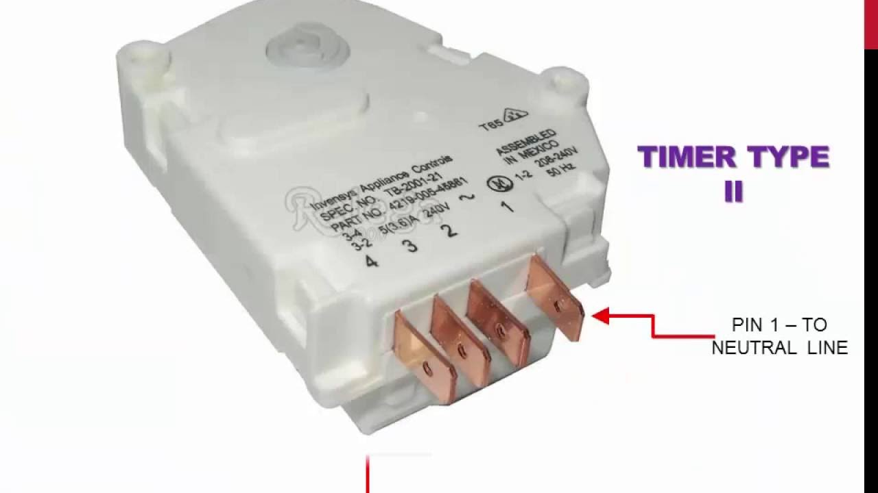 Timers For Refrigerator Type No Frost