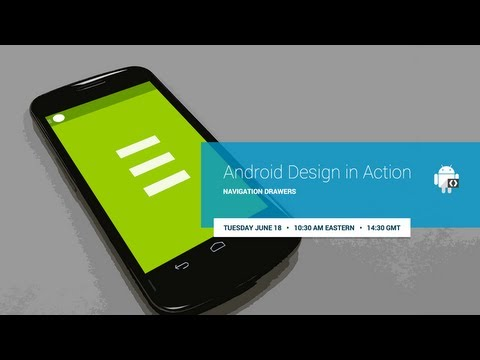 Android Design in Action: Navigation Drawers