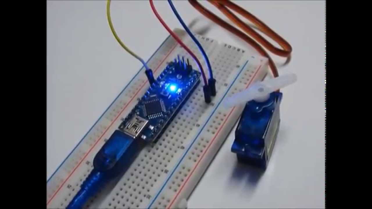 Servo motor tower pro sg90 on arduino nano youtube for Arduino nano motor control