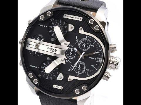 c2059f33350f Men s Diesel Mr Daddy 2.0 DZ7313 Oversized 4 Time Zone Watch