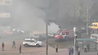 Пожар. Горела машина на Машерова возле Приор банка