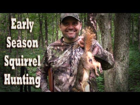 Sniping Early Season Squirrels! Rifle Hunting