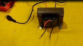 Como hacer un trasformador con Tap-central (paso a paso)