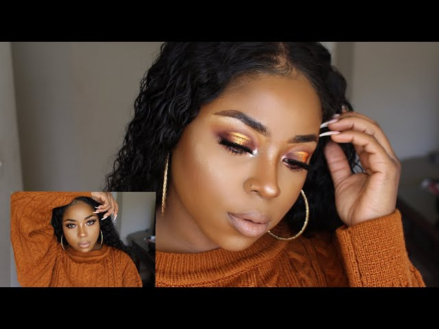 SOFT FALL HALO LOOK USING ONLY THE PICANTE PALETTE BY KARITY  | MS CROWN MEE